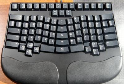keyboard yang ergonomis