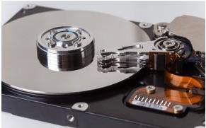 Ruang hard disk yang digunakan untuk penyimpanan data.