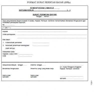 Surat Perintah bayar