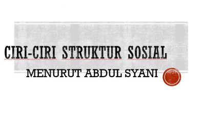 Ciri Struktur Sosial