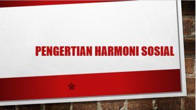 Harmoni Sosial