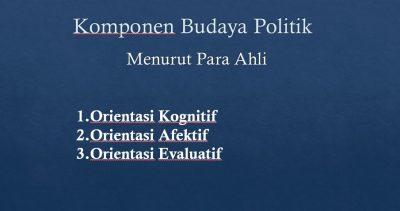 Komponen Budaya Politik
